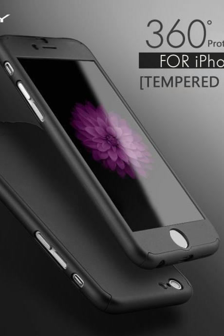 Orignal iPAKY Nonskid Sleek 360 Full Protection Tempered Glass Case for Apple iPhone 6/6s/6 Plus/6s Plus,Coque iPhone 6 Plus