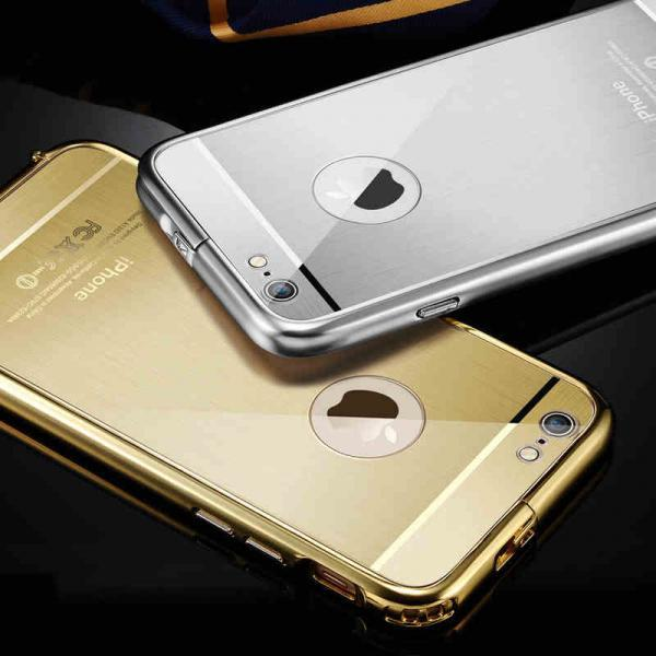 2in1 Brand Luxury Gold Mirror Case for iPhone 6 iPhone 6 Plus,Coque iPhone 6 6 Plus